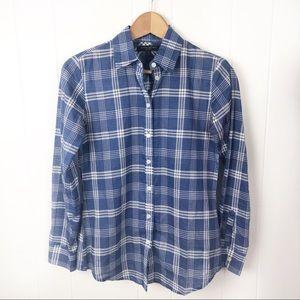 ❤️Banana Republic•Blue Plaid soft wash shirt